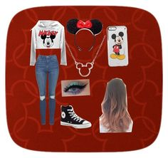 """""""Disney land ❤️❤️"""" by joecihunt ❤ liked on Polyvore featuring York Wallcoverings, Topshop, Converse and Disney"""