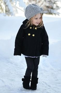 Winter Outfits For Girls, Little Girl Outfits, Little Girl Fashion, Toddler Fashion, Kids Fashion, Winter Fashion, Style Fashion, Stylish Little Girls, Stylish Kids