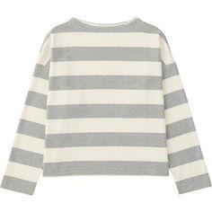 cda1a38aae9 UNIQLO Women Striped Mock Neck Long Sleeve T-Shirt ( 20) ❤ liked on