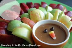 Caramel Apple Turkey Plate, perfect for Thanksgiving!