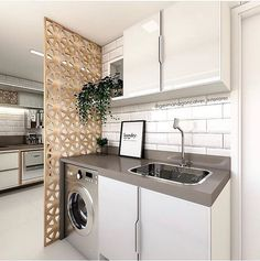 Best Home & Kitchen Kitchen Room Design, Laundry Room Design, Home Room Design, Kitchen Interior, Living Room Designs, House Design, Laundry Nook, Laundry Room Storage, Outdoor Laundry Rooms