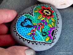 You've decorated my heart / painted rocks / painted stones / boho designs/ boho decor / boho heart / rock art / art on stone / heart designs by LoveFromCapeCod on Etsy