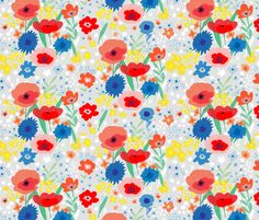 Meadow fabric by thepeople'sprint on Spoonflower - custom fabric