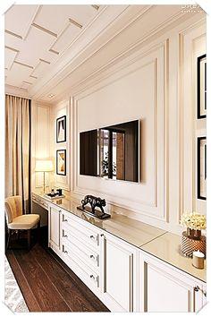 Master bedroom on Behance Hauptschlafzimmer in Behance Tv In Bedroom, Bedroom Dressers, Closet Bedroom, Modern Bedroom, Bedroom Storage, Diy Bedroom, Trendy Bedroom, Master Bedrooms, Design Bedroom