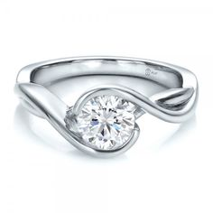 Custom Wrapped Diamond Solitaire Engagement Ring - 100595 | Joseph Jewelry Seattle Bellevue