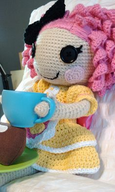 crochet doll....love the curls