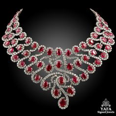 Diamond Necklace Gold Diamond and Ruby Necklace - Gold Diamond,Ruby Necklace. Yafa Signed Jewels specializes in Vintage Signed Jewelry pieces with such names as Cartier, Van Cleef Ruby Jewelry, Diamond Jewelry, Jewelry Necklaces, Fine Jewelry, Bracelets, Diamond Necklaces, Gemstone Jewelry, Jewellery 2017, Diamond Choker