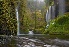 """Whispering Falls"" by Peter Lik. Columbia River Gorge National Scenic Area"