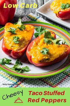 Cheesy Taco Stuffed Red Peppers