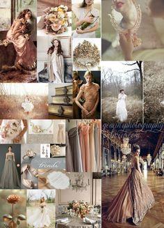Antique Romantic Inspiration Board :  wedding gemini gold inspiration ivory november pink Board