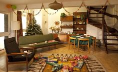 A 1965 living room at Christmas Past photographed by Chris Ridley