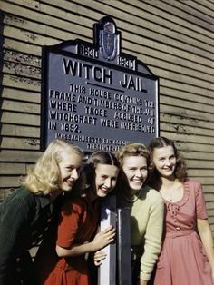Photographic Print: Girls Pose by a Jail That Recalls the Witch Trials of 1692 in Salem by B. Anthony Stewart : 16x12in Time Tumblr, Tumblr Funny, Links Of London, Otto Von Bismarck, Tiffany & Co., Into The West, Jack Kerouac, The More You Know, Before Us