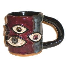 Eye Coffee Cup 36 With Nine Eyes by Aaron Nosheny / Aberrant Ceramics on Etsy