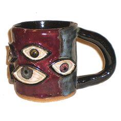 Eye Coffee Cup 36 With Nine Eyes by Aaron Nosheny / Aberrant Ceramics on Etsy