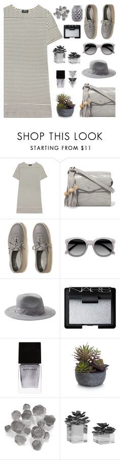 """""""Sporty Chic: Sneakers and Dresses"""" by eula-eldridge-tolliver ❤ liked on Polyvore featuring A.P.C., Elizabeth and James, Hollister Co., Banana Republic, NARS Cosmetics, Witchery, Elements and Palecek"""