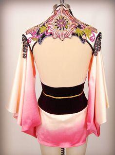 Aerial silks costume / custom dance costume / detachable sleeve kimono Japanese Madame Butterfly / leotard made to order