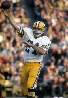 Quarterback John Hadl of the Green Bay Packers