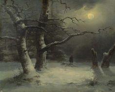 suonko:  Winter Landscape by Moonlight by Joseph Carl Berthold Püttner