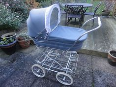 Vintage Silver Cross blue coach built pram 1980's | Like the one I had for my son. :)