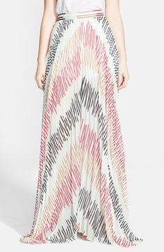 Alice + Olivia Pleated Wide Leg Multi Stripe Sheer Pants available at #Nordstrom