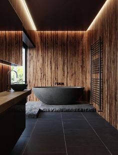 Make your bathroom your personal SPA! Or find inspiring luxury bathroom ideas he… Make your bathroom your personal SPA! Wood Bathroom, Bathroom Wall Decor, Simple Bathroom, Modern Bathroom Design, Bathroom Interior Design, Bathroom Lighting, Bathroom Ideas, Bathroom Mirrors, Bathroom Designs