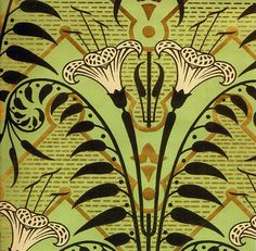 - 'Gothic Lily' Wallpaper design, produced in the 1850's