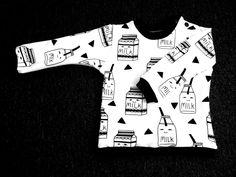 Voor u getest: het (gratis) patroon van de baby sweater MARE Sewing Kids Clothes, Sewing For Kids, Baby Sewing, Diy Clothes, Baby Patterns, Sewing Patterns, Fabric Patterns, Sewing Ideas, Sewing To Sell