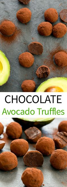 Chocolate Avocado Truffles. Just 3 ingredients and easy to make.