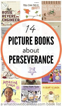 Teach growth mindset with picture books about perseverance and determination for kids. Good for the classroom and at home.                                                                                                                                                     More
