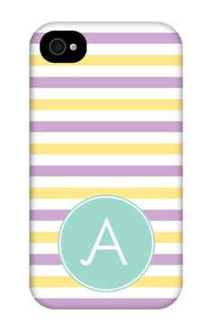 Come shop this Three Color Stripe Monogram iPhone 4 Tough Case at http://www.putacaseon.me/products/three-color-stripe-monogram-iphone-4-tough-case . Using our custom case tool you can design your case exactly how you want it.