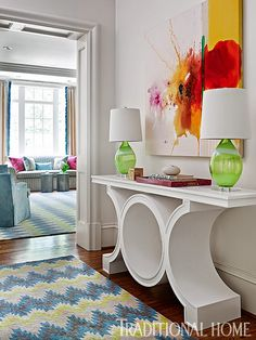 House of Turquoise:  Harmonious Living by Tish Mills Interiors. Very Fresh looking! Corinne  Madias sells fine homes.