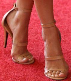 Camilla Belle showing off her feet in Tamara Mellon sandals