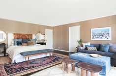 Before and After: A Perfectly California Eclectic Bedroom via @domainehome