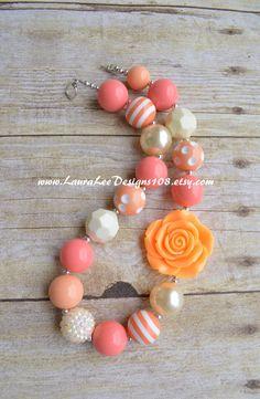 Coral Cream and Peach Bubblegum Children's by LauraLeeDesigns108