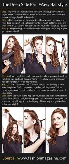 The Deep Side Part Wavy Hairstyle | Pinterest Tutorials