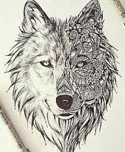 Znalezione obrazy dla zapytania wyjący wilk rysunek