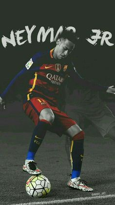 I chose this picture, because I love playing soccer. The player found in this picture happens to be my favourite player, Neymar Jr. Lionel Messi, Messi And Neymar, Good Soccer Players, Football Players, Fc Barcalona, Neymar Barcelona, Barcelona Sports, Neymar Jr Wallpapers, Paris Saint Germain Fc