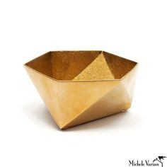 Michele Varian Shop - Brass Origami Bowl Small Gold