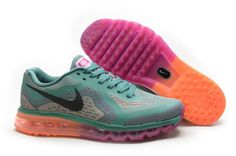 Nike Air Max 2014 Running Shoes On sale Green Orange Purple Air Max Women 14f35a7dca7