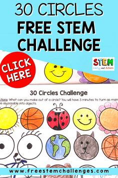 Creativity declines as we get older, but creativity and problem-solving are essential skills for STEM careers. Combat this problem by implementing creativity challenges like the 30 Circles Challenge in the elementary classroom. Scientists, computer programmers, engineers, and mathematicians all need to be able to think creatively and brainstorm solutions quickly in order to solve problems. #STEM #STEMChallenge #creativity Stem Teacher, Elementary Teacher, Stem Activities, Activities For Kids, Stem Careers, Mathematicians, Stem Challenges, Science Lessons, Better Together