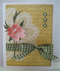 hello doily stampin up cards | As far as I can tell, Fabulous Florets did not make the retirement ...
