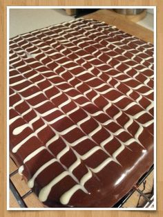 Chocolate tray bake following Mary Berry recipe Bake Off Recipes, Cooking Recipes, British Baking Show Recipes, Paul Hollywood, Great British Bake Off, Baking Cakes, Mary Berry, Sweet Pastries, Biscuit Recipe