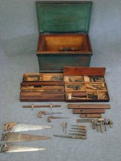 Carpenters Chest With Complete Set Of Tools