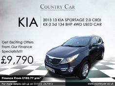 For the best deal on a used Kia in Warwick, come to Country Car. Be sure to view our complete range of used cars online. Used Cars Online, Kia Motors, Group Insurance, Six Speed, Roof Rails, Kia Sportage, Four Wheel Drive, Amazing Cars, Supercar