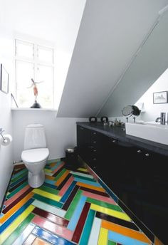 Crazy colorful tile floor