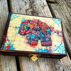 Vintage Elephant Plug Jewelry Box or Storage Box