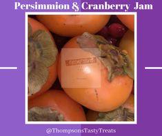 Persimmon Jam Recipe, Persimmon Fruit, Persimmon Recipes, Jam Recipes, Cranberry Jam, Winter Recipes, Cranberries, Winter Food