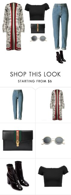 """Untitled #436"" by xoxotiffvni on Polyvore featuring River Island, Gucci and Alice + Olivia"