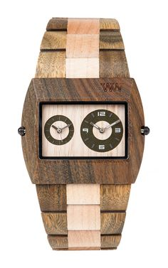 WeWOOD Jupiter Army Green/Beige - Guaiaco Wood & Maple