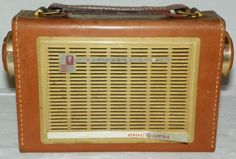 Vintage General Electric Transistor Radio Model P-750 A in Leather Case Works #GeneralElectric
